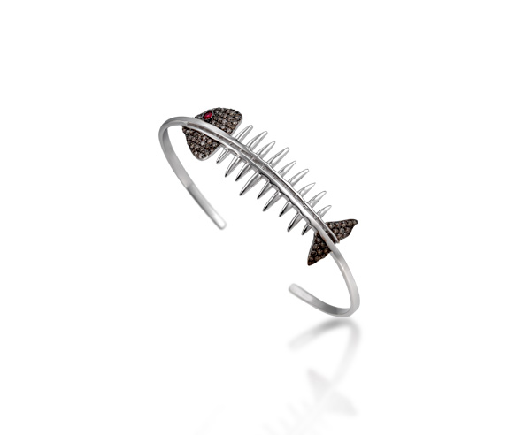 BRACELET BANGLE FISH SKELETON