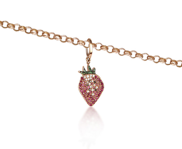 NECKLACE CHARM STRAWBERRY