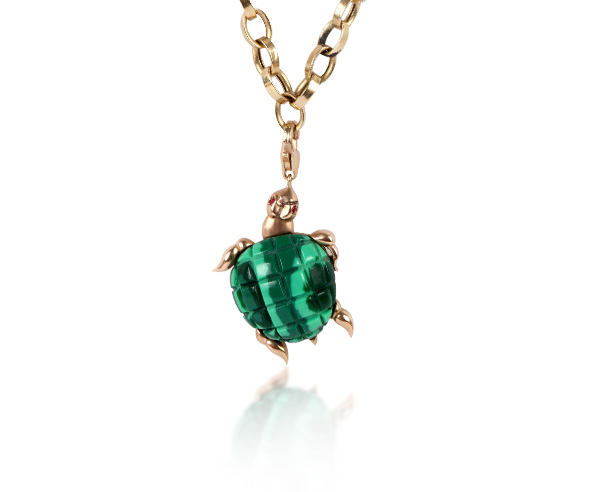 CHARM TURTLE MALACHITE