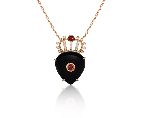 NECKLACE HEART CROWN