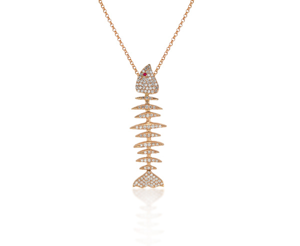 NECKLACE FISH SKELETON