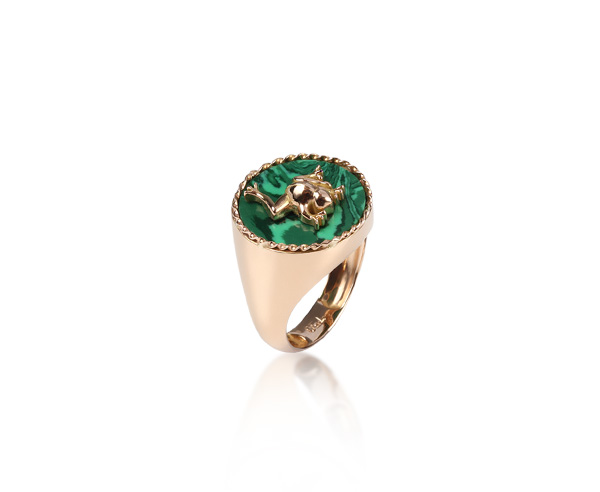 RING TORSADE MALACHITE